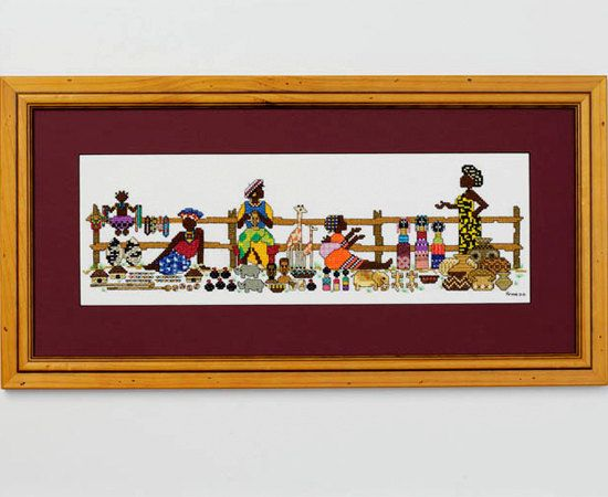 Roadside Sellers - An African counted cross stitch design on Etsy, $8.00 AUD