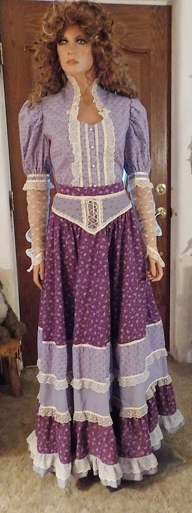 "1980's GUNNE SAX Style Handmade Skirt & Blouse ~ Size 27"" Waist ~ Worn Once #Handmade #SkirtBlouse #Wedding"