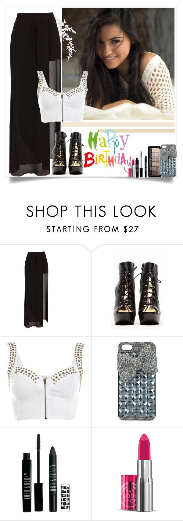 """""""Birthday party with Maite and friends"""" by giovannacarlamalik ❤ liked on Polyvore featuring Acne Studios, Qupid, Miss Selfridge, Lord & Berry, The Body Shop, happybirthday, rbd, Rebelde, Maite and perroni"""
