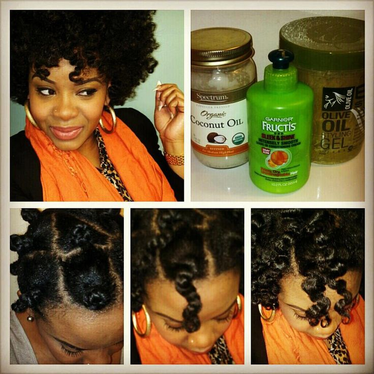 For a two strand twist out, or try the bantu knots. Makes your hair feel so soft!