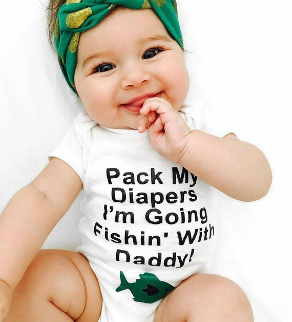 Funny Fishing Onesie Baby Boy Onesie Baby by MiniMagnoliaBoutique