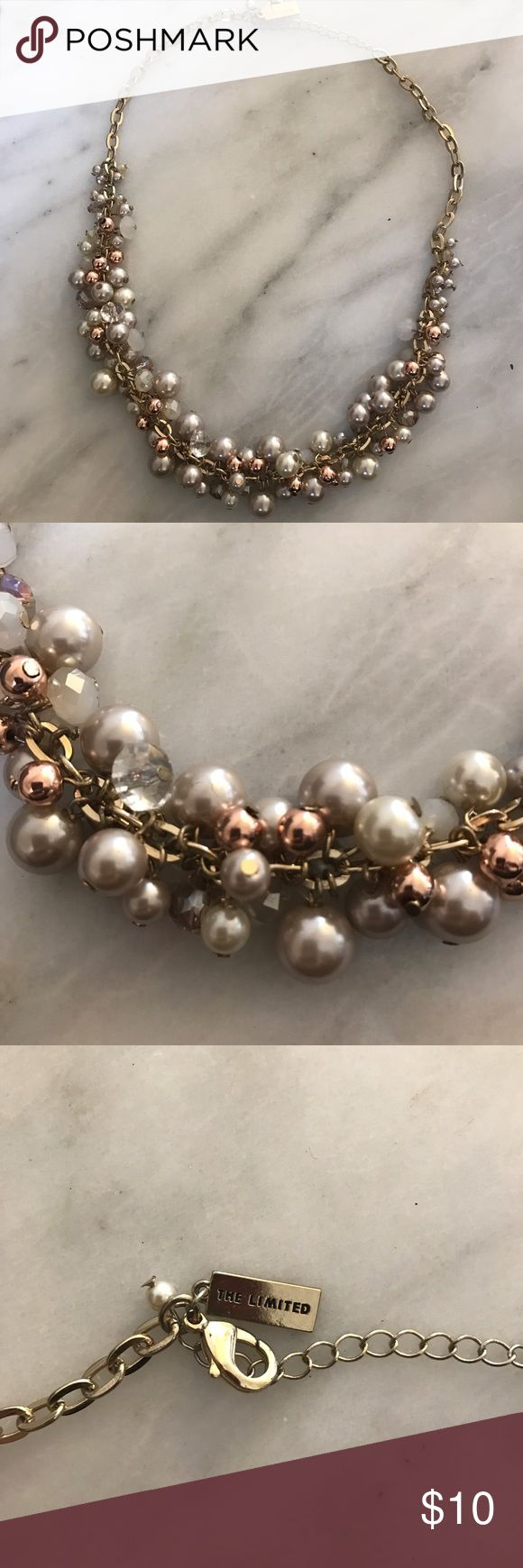 Chunky Pearl Necklace Chunky pearl necklace from the Limited. Great condition! The Limited Jewelry Necklaces