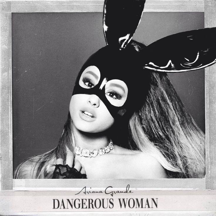 "cover art for the album ""Dangerous Woman"" ☁️"