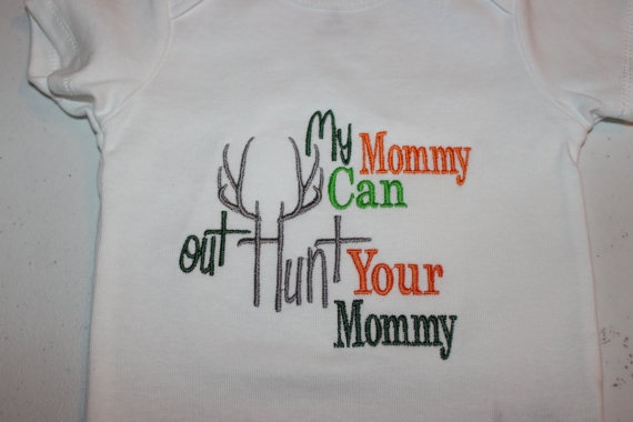 Mommy deer hunting shirt or onesie for boy or girl by stephstowell, $21.00