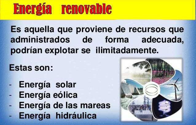 Energia Y Sus Tipos Definicion De Energia Renovable Y No Renovable Diferencias Cuadro Comparativo Energia Renovable Energia Tipos De Energia