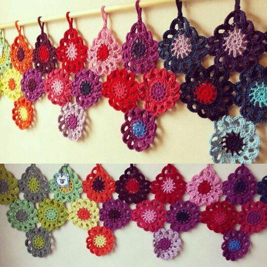 Cenefa de flores muy colorida y calida Tutitas Tejedoras