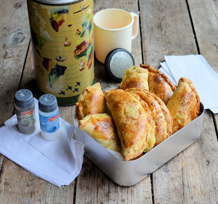 Cheese, Onion and Potato Pasties Recipe: triangles instead of circles. Double the mustard and add a bit of thyme. Leftover filling.