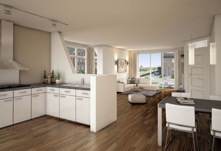 Keuken afscheiding muur huis keuken pinterest search - Keuken en woonkamer in dezelfde kamer ...