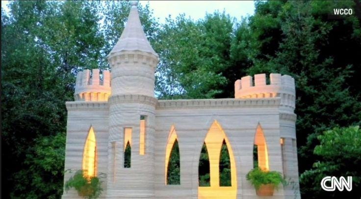 Concrete Castle Built with Homemade 3D Printer - http://www.lorna-harvey.com/concrete-castle-built-with-homemade-3d-printer/