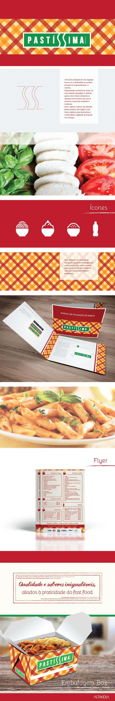 Reestruturação de identidade visual para cliente Pastíssima, restaurante fast food delivery de massas, de Porto Alegre/RS.
