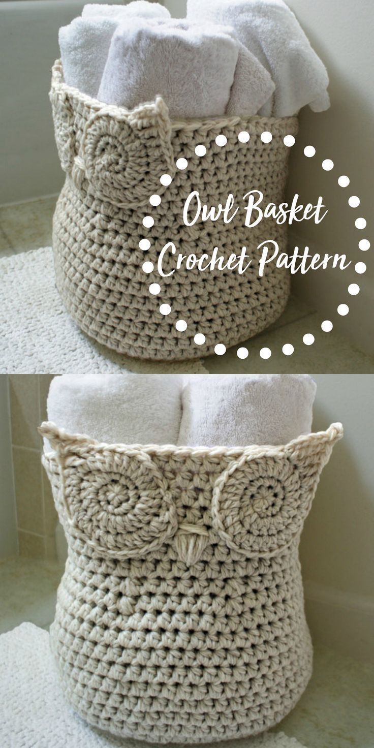 Cute owl basket crochet pattern. instant digital download #crochet #owl #affiliate #handmade #etsy #etsyseller