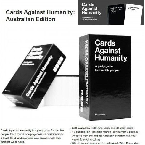 Cards Against Humanity Party Game AU Edition | Buy New Arrivals
