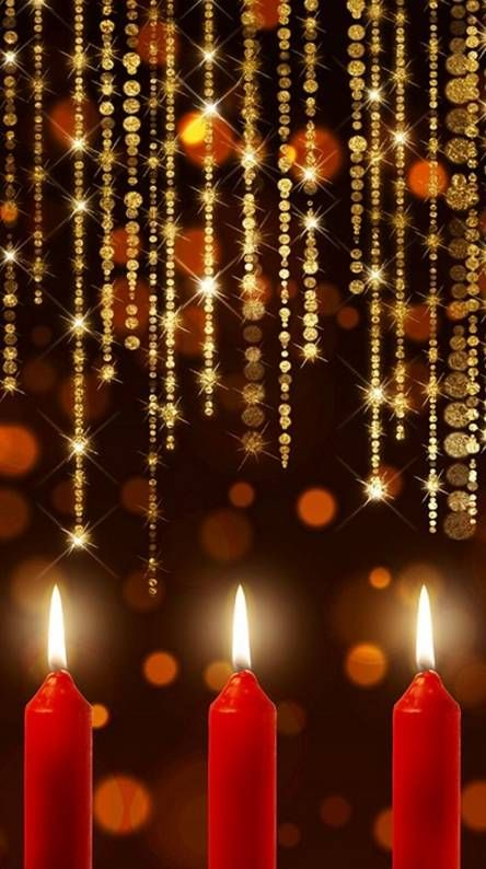 Christmas Candlelite Free Wallpaper for your Phone Pinterest