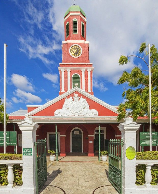 The Barbados Garrison clock tower in Bridgetown, Barbados - a UNESCO World Heritage site.