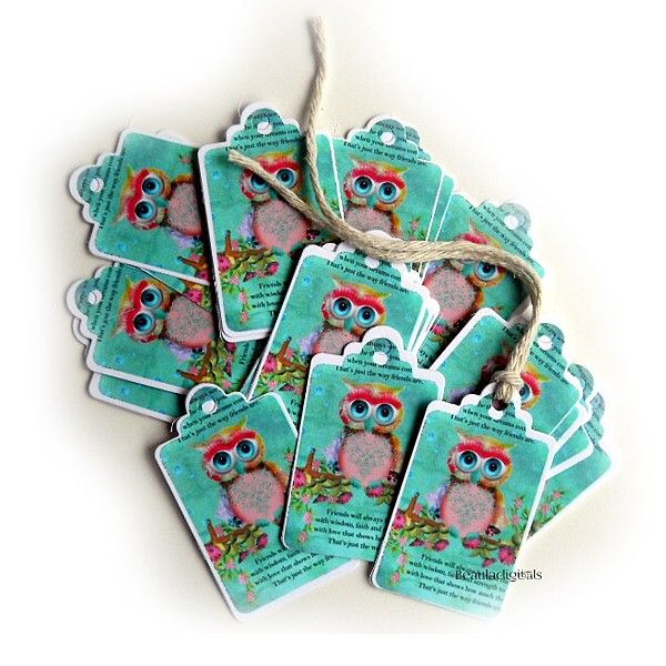 50 Dream Owl Small Swings Tags for Business, Party Favors or Gift Giving