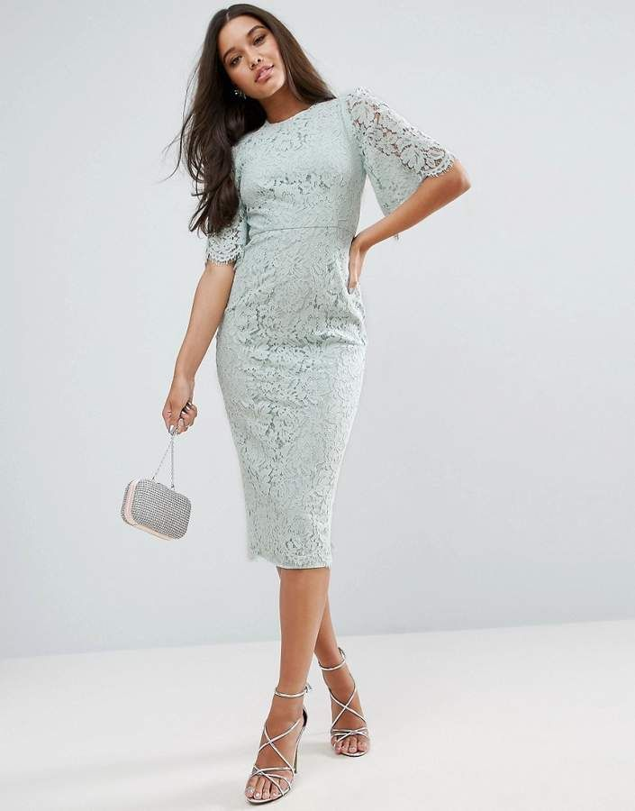 bd255b1896a1 ASOS Flutter Sleeve Lace Pencil Dress | Pinterest Closet For Girls ...