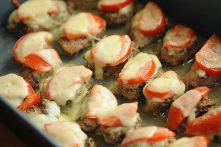 Polędwiczki z pomidorami i mozzarellą