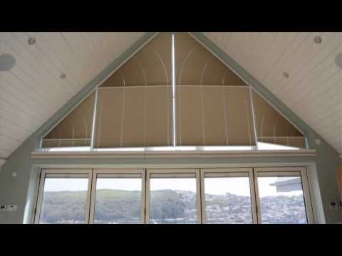 ClearView Pleated Gable End Blinds from appeal shading.  Perfect for Gables.