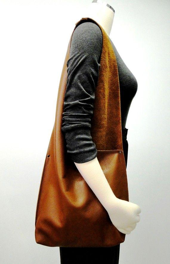 Hombro bolso hecho a mano en cuero de Color por JPRESTONHANDBAGS
