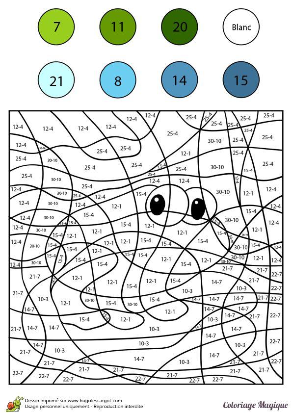 17 meilleures images propos de coloriages magiques for Coloriage magique table x 6