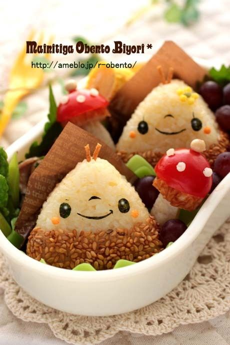 """Lunch ♪ how to make mushroom and chestnut-chan Boy & Girl chestnut also ~ ~ character valve"""