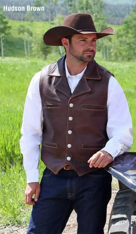 Maverick Signature Leather Vest - Concealed Carry- Made In The USA By Schaefer