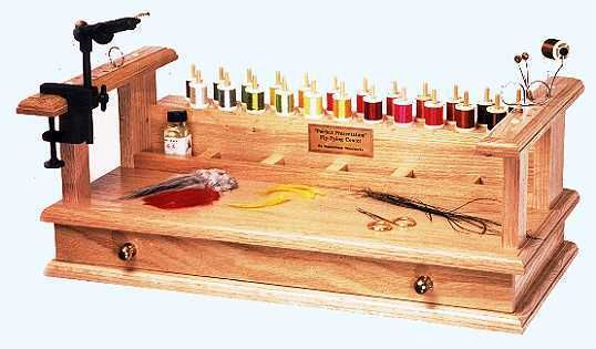 Fly vice help - posted in The Fly Tying Bench: I got a new desk that doesnt have a lip suitable for a C camp. I need a way to mount my light and a vice I want to buy. Does anyone have an idea and/or a picture? Kevin
