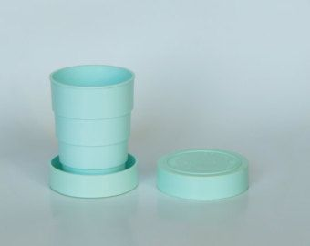 Collapsing Cup Shot Cup Plastic Glass Portable by SovietLegacy