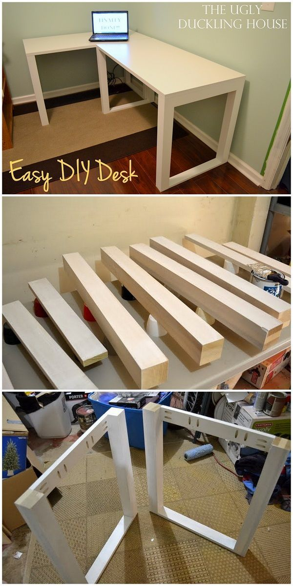 Check out this idea for a #DIY easy crafts desk. Looks easy enough! #HomeDecorIdeas @istandarddesign