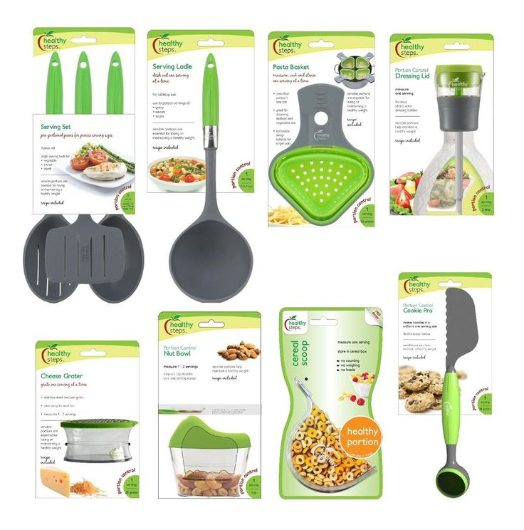 Jokari Healthy Steps Portion Control Diet / Weight Loss 10pc Utensil Set #HealthySteps