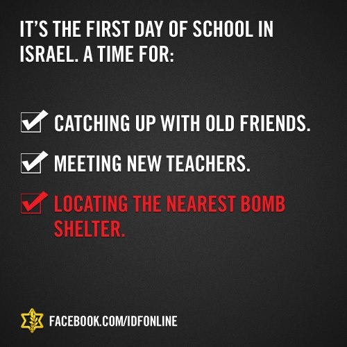 FIRST DAY AT SCHOOL IN ISRAEL