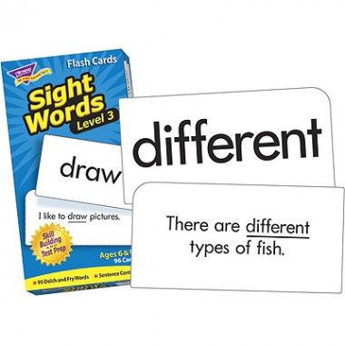 Sight Words Level 3 Flash Cards