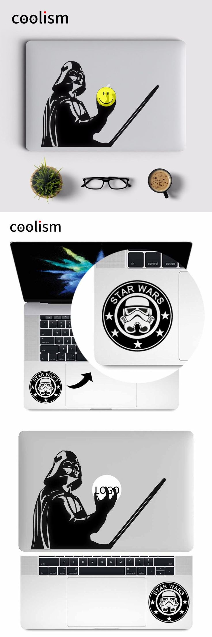 [Visit to Buy] Star Wars Darth Vader Laptop Sticker for MacBook Decal Air/Pro/Retina 11 12 13 15 inch Computer Mac skin Pegatina para notebook #Advertisement