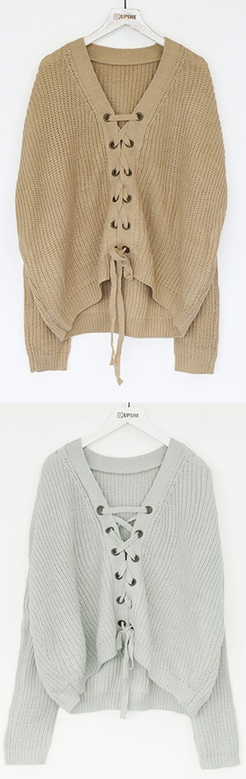 $26.99 for new arrival! So cool for school with free shipping! Feeling as fresh as you look with the lace up sweater! This sweater won't press your buttons rather it will impress them!! Find your favorite at Cupshe.com !