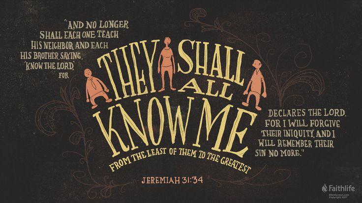 I'm reading Jeremiah 31:34