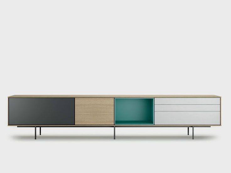 Contemporary style wooden sideboard AURA C9-2 Aura Collection by TREKU   design Angel Martí, Enrique Delamo
