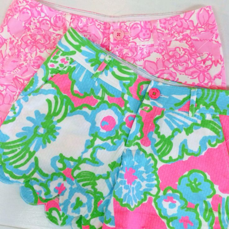 Pink Bee   Lilly Pulitzer   Spring 2014   Buttercup Shorts