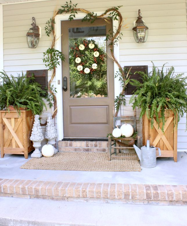 5 Tips For Decorating A Front Porch For Fall Front Doors