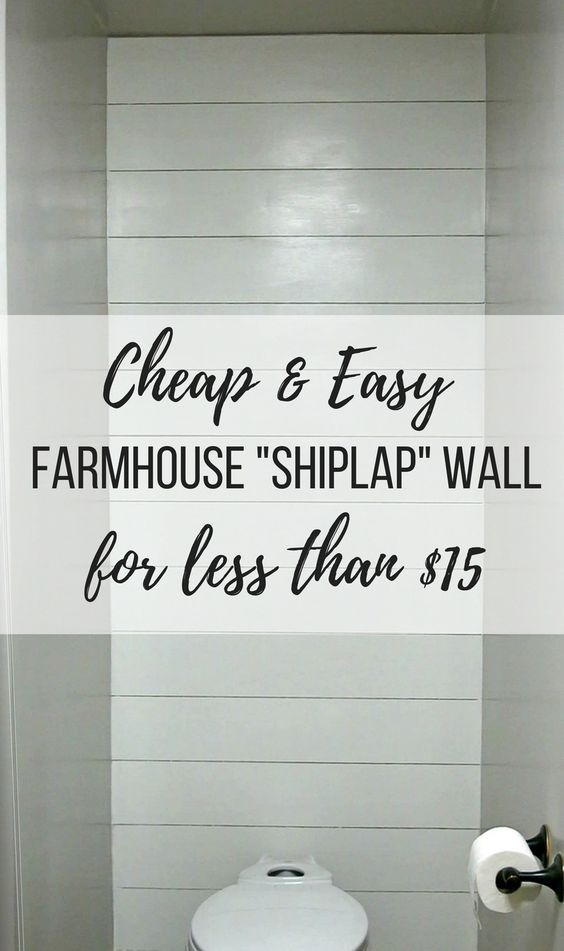 How To Install A Faux Shiplap Wall Faux Shiplap Walls