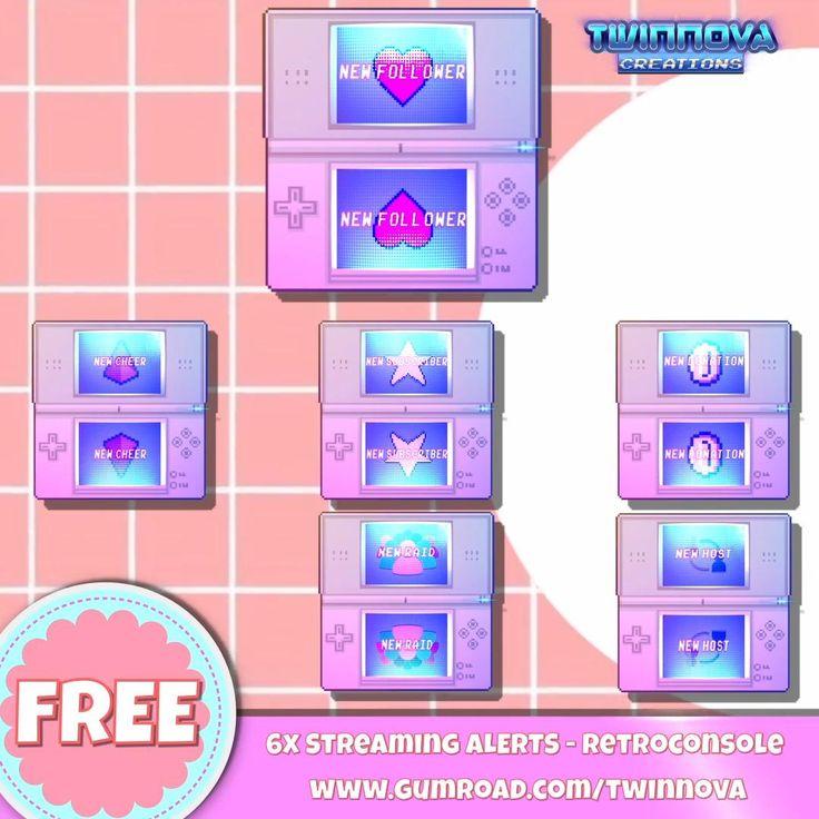 FREE Twitch Alerts Retroconsole Theme Aesthetic Pastel