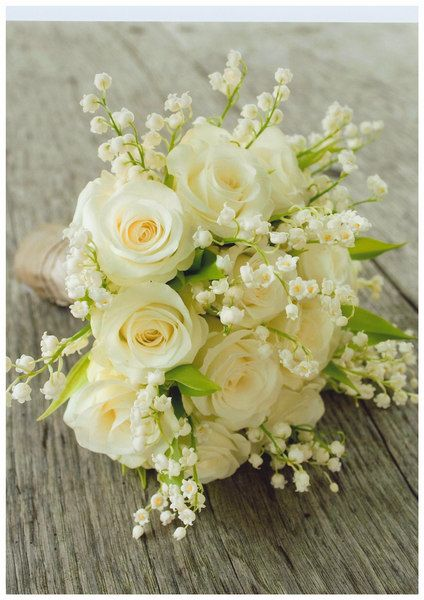 Lily Of The Valley And Rose Bouquet Bouquet, lily of the valley,