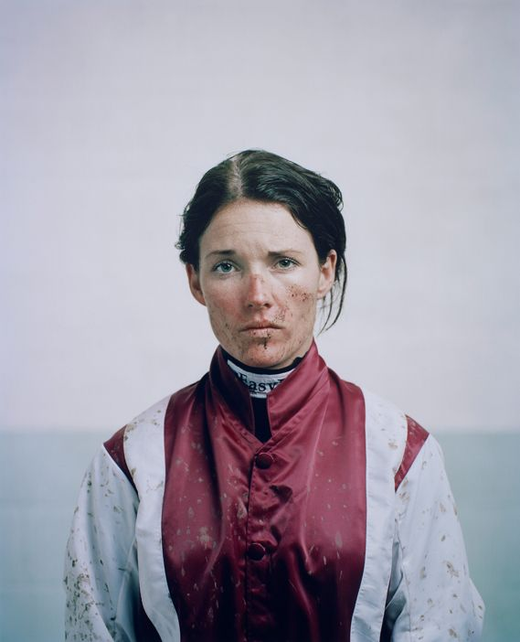 Spencer Murphy's beautiful post-race portrait of jockey Katie Walsh, winner of the National Portrait Gallery's Taylor Wessing Photographic Portrait Prize