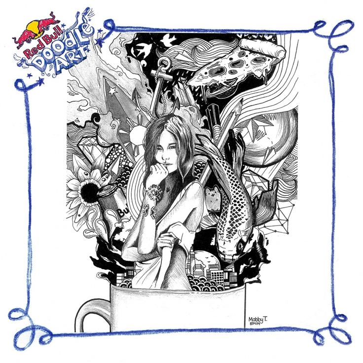 Red Bull Doodle Art Mabby Triviño