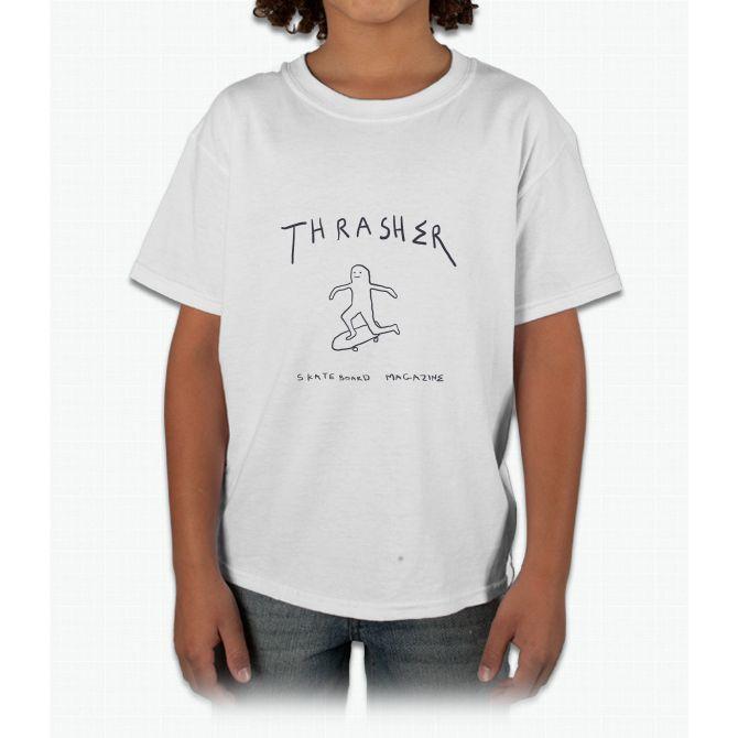 THRASHER skateboard mag white Young T-Shirt