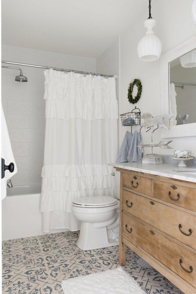 gorgeous bathroom tile and repurposed dresser sink beautiful chaos rh pinterest com Using Ceramic Tiles Craft Ideas Repurposed Floor Mirror