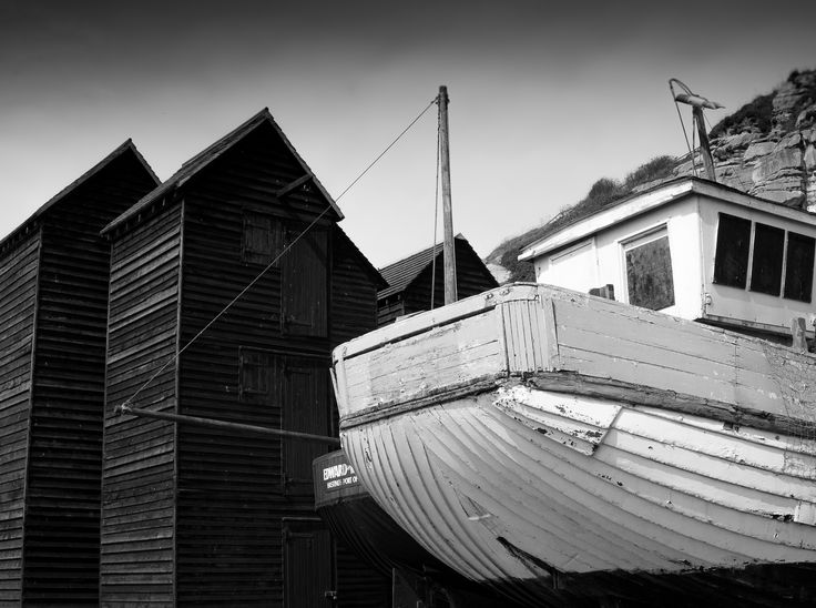 Net huts on Hastings seafront