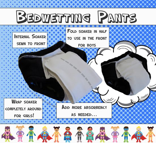 ECO-FRIENDLY bedwetting pants, nighttime underwear, potty training.  No more nighttime pull-ups!