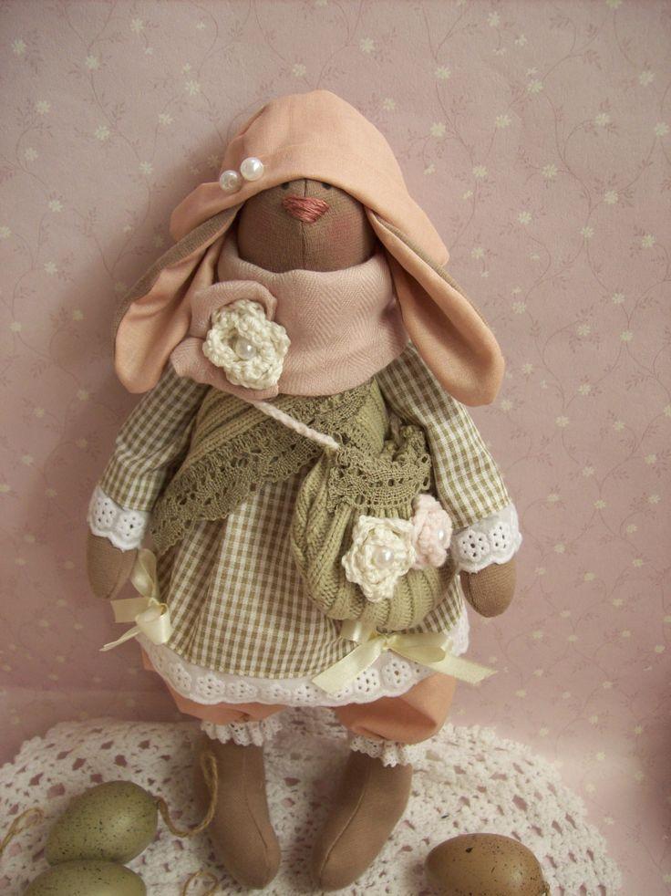 Tilda - Tilda Doll - Tilda Bunny - Textile Bunny- Handmade Doll- Easter - Home Decor- Toys by TrixiCreation on Etsy
