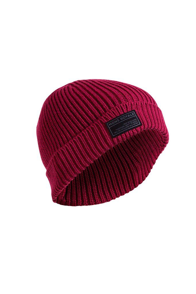 Fisherman's Beanie - Plum | Mons Royale New Zealand