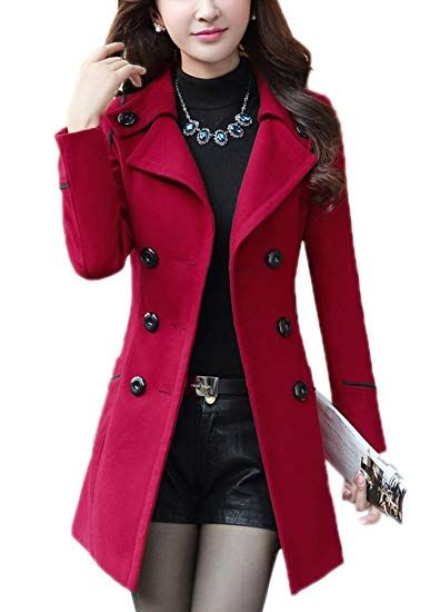 48ba42c487f Great for YOSUNL Women s Wool Coat Double-Breasted Outerwear Winter Warm  Trench Jacket with Belt online.   39.99  topbrandsclothing from top store